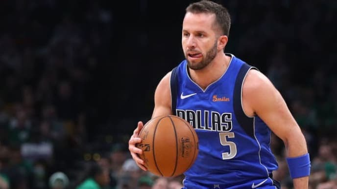 BOSTON, MASSACHUSETTS - JANUARY 04: J.J. Barea #5 of the Dallas Mavericks dribbles against the Boston Celtics during the first half at TD Garden on January 04, 2019 in Boston, Massachusetts. NOTE TO USER: User expressly acknowledges and agrees that, by downloading and or using this photograph, User is consenting to the terms and conditions of the Getty Images License Agreement. (Photo by Maddie Meyer/Getty Images)